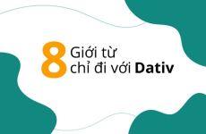 8 Giới từ chỉ đi với Dativ